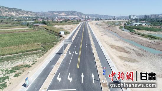 图为平凉市静宁县西滨河路至崇德路工程项目。