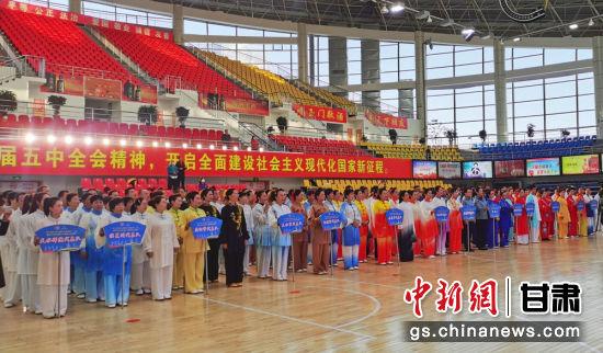 9月26日,2021年助力乡村振兴甘肃省第十二届健身气功交流展示大赛暨站点联赛在酒泉市玉门市开赛,