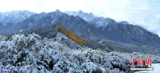 图为祁连山区落雪。 武雪峰 摄