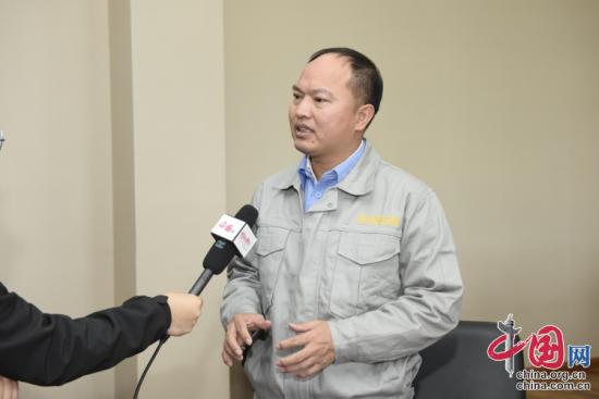 首航高科能源技术股份有限公司副董事长黄文博接受采访