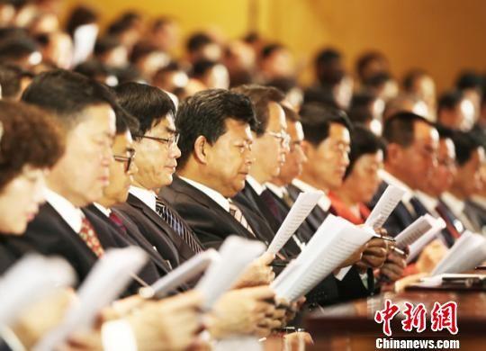5月22日,中国共产党甘肃省第十三次代表大会在兰州开幕。 钟欣 摄