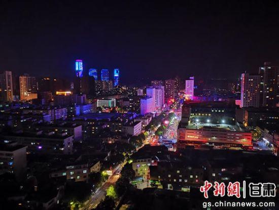 图为兰州市城关区夜景。(资料图) 陈国栋 摄