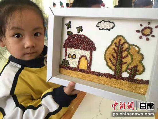 兰州一幼儿园 画说 粮食安全 育孩童审美创造力