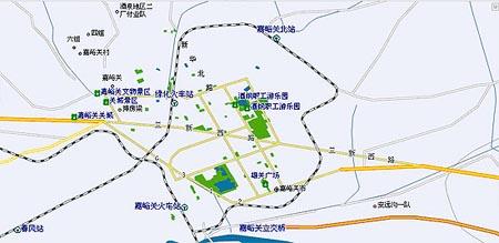 嘉峪关市区地图