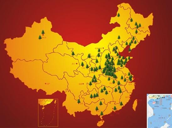 中国省份地图英文