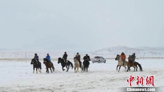保时捷娱乐彩票安全吗:甘肃肃北县冰雪那达慕牧民骑马赛驼迎新年