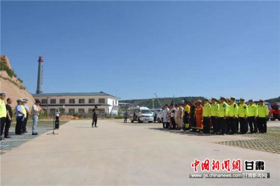 庆城开展道路交通事故应急救援演练活动