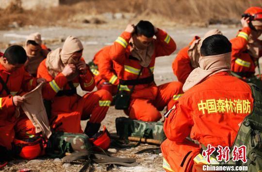 甘肃森林消防开展冬季防火演练