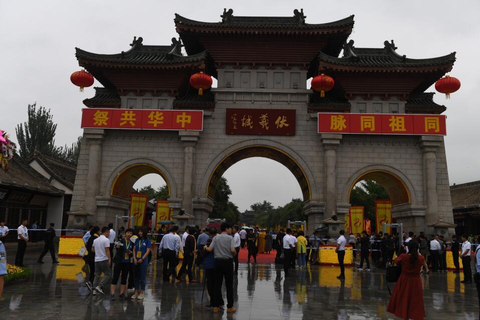 雨后伏羲庙